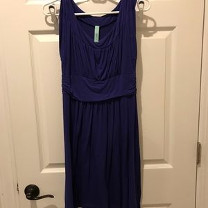 Gilli royal blue empire waist knit dress